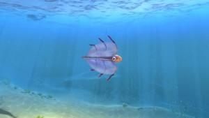 Рыба пузырь в воде